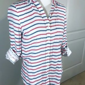 Old Navy Striped cotton button up shirt Top Small